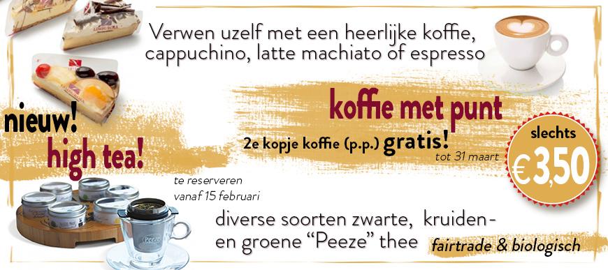 high tea koffie actie